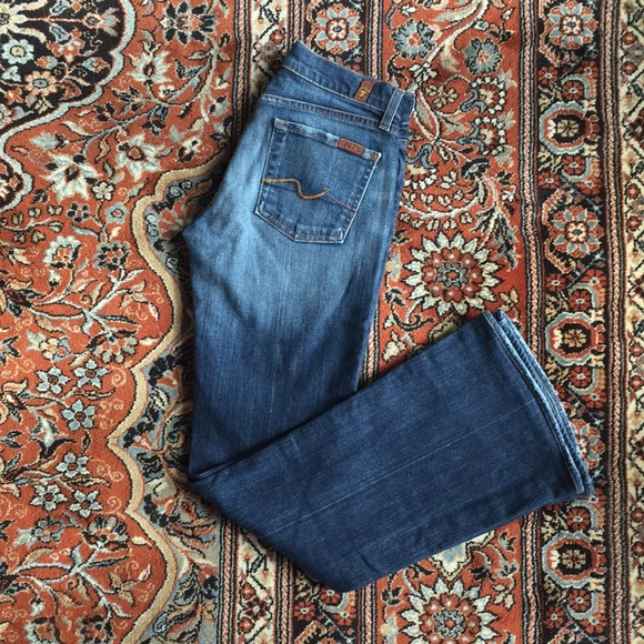 7 For All Mankind Denim - 🎟 7 FOR ALL MAN KIND BELL BOTTOM JEANS SIZE 26